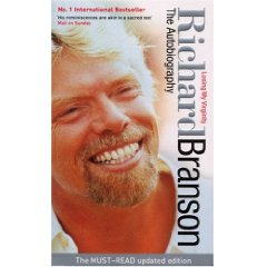 Cover page - Richard Branson's autobiography